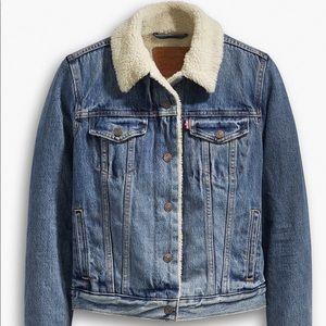 Levi's Jackets & Coats - Levi's Original Sherpa Trucker Denim Jacket